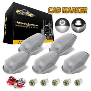 5 Cab Clearance Marker 15442 Clear Light harness t10 3020 smd Led White For Ford