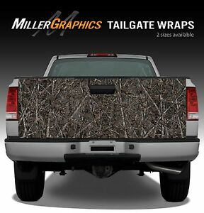 Camo woodland Ghost Truck Tailgate Vinyl Graphic Decal Wrap