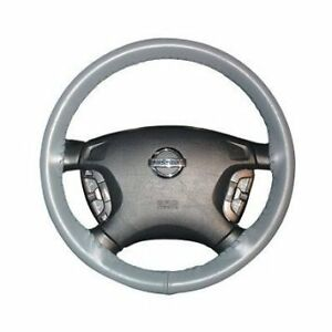 Grey Leather Steering Wheel Cover Wheelskins Genuine Cowhide Leather Size Axx