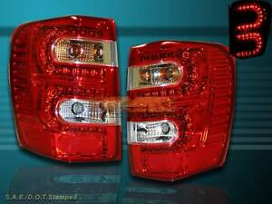 99 04 Jeep Grand Cherokee Tail Lights Led Red 99 00 01 02 03 04