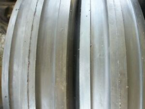 Two 750x16 750 16 7 50x16 7 50 16 3 Rib 8 Ply Tractor Tires With Tubes
