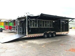 Concession Trailer 8 5 X 30 With Walk In Cooler Full Kitchen
