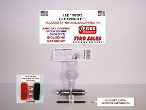 90292 and 90783 * LEE UNIVERSAL DEPRIMING and DECAPPING DIE W 1 EXTRA PIN * NEW
