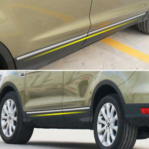 Chrome Side Door Body Molding Trim Cover Garnish For Ford Escape Kuga 2013 2018