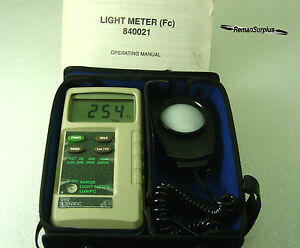 Used Sper Scientific 840020 Light lux Meter 840021c Original Case