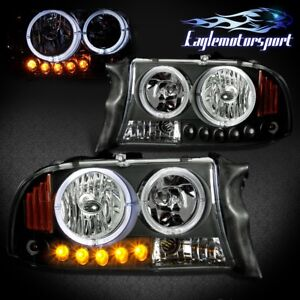 led Halo 1997 2004 Dodge Dakota 1998 2003 Durango Black Led Halo Headlights