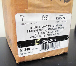 Square D Two Unit Control Station Nema 4 13 Series B Start Stop Push Button