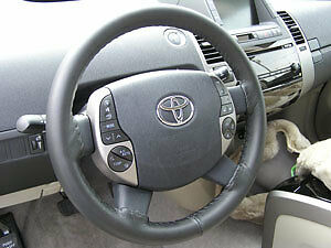 Charcoal Genuine Leather Steering Wheel Cover For Toyota Wheelskins Size Axx