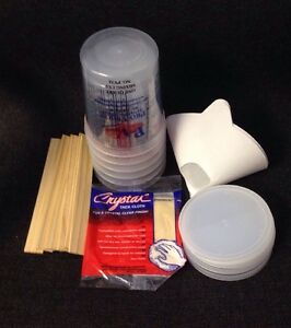 Paint Refinishing Kit Mixing Cups With Lids Strainers Paint Sticks Tack Cloth