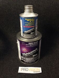 Transtar Kwik Gloss Acrylic Urethane Clearcoat 6844 Extra Solid Activator 6877