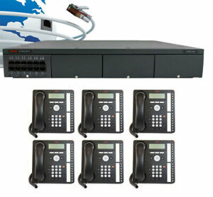 Avaya Ip500 V2 Digital Voip Phone System Package W 6 1416 Phones