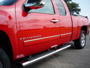 Tyger For 09 2013 Chevy Silverado Extended Cab Body Side Molding Trim Top 1 4pc