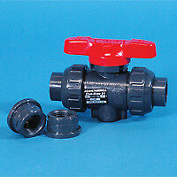 2 Socket Threaded Pvc True Union Ball Valve With Fkm O rings