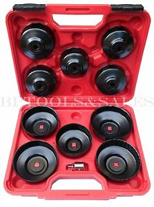 11pc Oil Filter Cap Wrench Oil Filter Socket Set Remover Installer Hand Tools