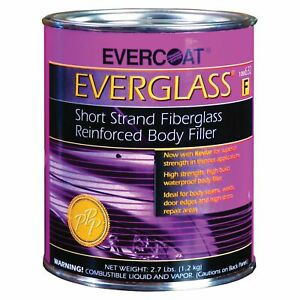 Evercoat Everglass Short Strand Reinforced Body Filler Quart Fib 632