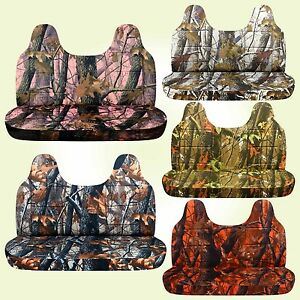 Camouflage Seat Covers Fits 99 04 Ford F150 250 350 For Bench W molded Headrest