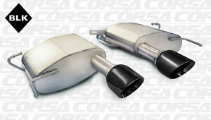 Corsa 2011 2015 Cadillac Cts v Coupe Axleback Exhaust System With Black Tips