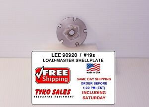 90920 * LEE LOAD-MASTER PROGRESSIVE *  SHELL PLATE #19s * 9MM LUGER * 40 S