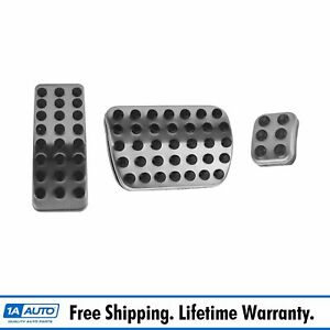 Oem Brake Gas 3 Pedal Pad Set Stainless Steel Amg Style For Mercedes