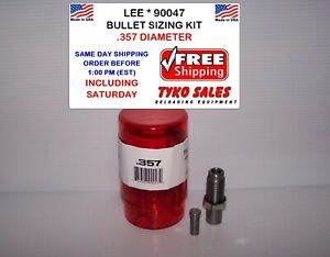 LEE 90047 * LEE PRECISION BULLET SIZING DIE KIT * .357 DIAMETER * 90047