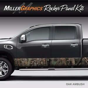 Camo Oak Ambush Rocker Panel Graphic Decal Wrap Kit Truck Suv 12 X 24 Feet