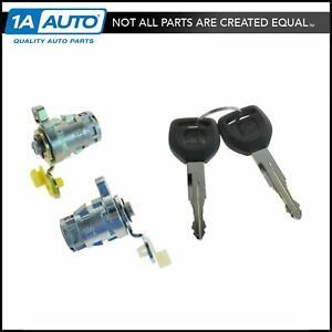 Door Lock Cylinder Front Set Kit With Keys For Honda S2000 Accord Civic Odyssey