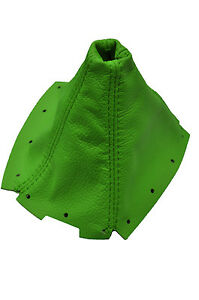 Green Leather Fits Mazda Miata Mk1 Mk2 1989 1997 Shift Boot Cover