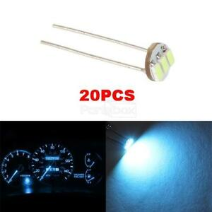 20x Ice Blue 3smd Led Conversion Kit Gauges Cluster Solder Mini Bulb For Chevy