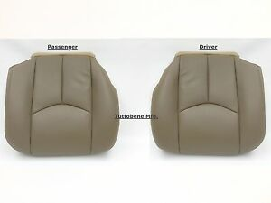 03 06 Sierra Avalanche Silverado Leather Driver And Passenger Set Tan 522 Or15i