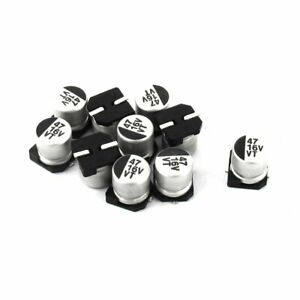 10pcs 47uf 16v Smd Aluminum Electrolytic Capacitors 5mm X 6mm
