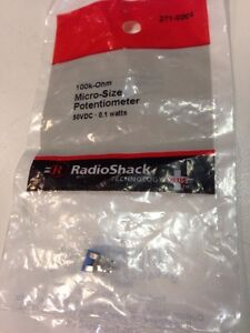 100k ohm Micro size Potentiometer 271 0284 By Radioshack