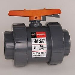 2 Socket threaded Pvc Tb Series Ball Valve With Safe Lockout Fpm O rings