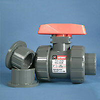 2 Threaded socket Pvc Tb Series Ball Valve With Fkm O rings