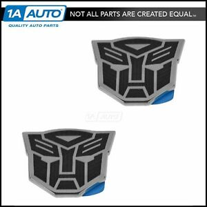 Oem Emblem Fender Mounted Transformers Autobot Pair Set For 10 15 Chevy Camaro