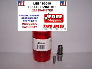 LEE 90049 *  LEE PRECISION BULLET SIZING DIE KIT * .224 DIAMETER * 90049