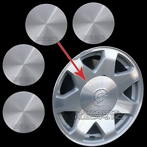 02 06 Cadillac Escalade 17 Aluminum Wheel Center Hub Caps 6 Lug Rim Cover Hubs