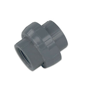 4 Schedule 80 Gray Pvc Threaded Union