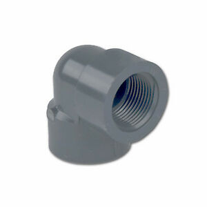 4 Schedule 80 Gray Pvc Threaded 90 degree Elbow