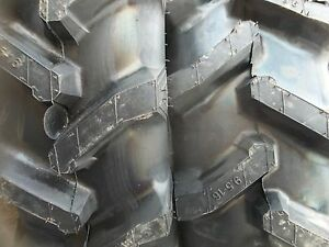 Two 9 5x16 9 5 16 R1 6 Ply Bar Lug Backhoe Kubota Mx5000dt Tractor Tires
