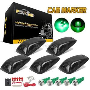 5pc 11516638 Smoke Cab Roof Running Light 5 5050 Smd T10 Green Led For Chevrolet
