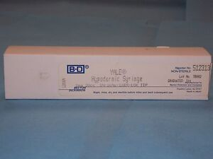 Bd Yale 512313 Hypodermic Syringe 20cc Luer lok Tip New Sealed Box