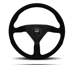 Momo Monte Carlo Steering Wheel Alcantara Black Stitch 350mm Mcl35al1b