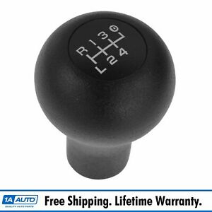 Oem Gear Shift Knob Black With White Lettering 5 Speed For Ford Pickup Truck New