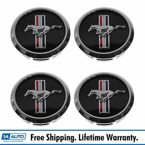 Oem Wheel Center Cap With Pony Set Of 4 Front Rear Lh Rh For 05 09 Ford Mustang