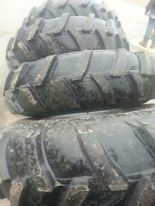 Four 14 9x24 Ap John Deere Ford 6 Ply Mud Truck Tractor Tires On Wheels