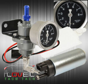 Gasoline Fuel Pump Injection Upgrade Adjustable Fuel Rail Pressure Regulator
