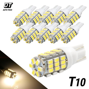 20x T10 921 194 Rv Camper Trailer 12v Led Interior Light Bulbs 42 Smd Warm White
