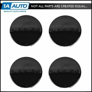 Oem Wheel Hub Center Cap Set Of 4 Lh Rh Front Rear Black 20 Inch For Dodge New
