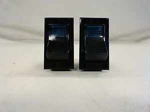 Carling Pair 2 Illuminated Old Style Rocker Switch On Off On Boat
