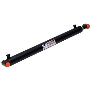 Hydraulic Cylinder Welded Double Acting 3 Bore 24 Stroke Cross Tube 3x24 New